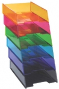 ITALPLAST DOCUMENT TRAYS-Tinted Colours