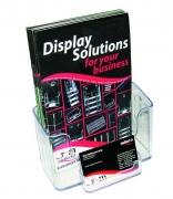 Brochure Holder with Business Card Holder