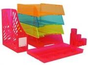 ITALPLAST DOCUMENT TRAYS-Neon Colours