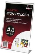 Sign Holder Slanted Single Sided