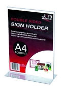Sign Holder T Shape Double Sided