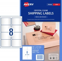 Avery Clear Inkjet Labels