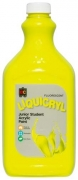 Liquicryl Junior Student Acrylic Paint 2L Fluorescent Yellow