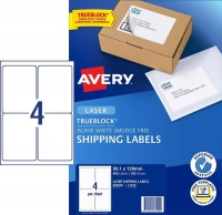 Avery Laser Label L7169 BX100 4/sheet 99.1x139mm