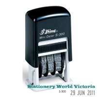 Shiny Self-Inking Date Stamp S300 3mm Mini