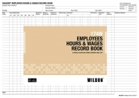 Wildon Wages Book 174W Employees Hours And Wages