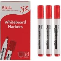 STAT Whiteboard Marker 2mm Bullet Nib BX12 red