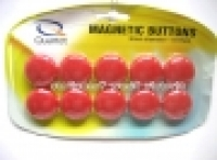 Quartet Whiteboard Buttons Magnetic 30mm Pkt10 Red