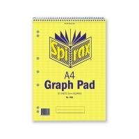 Spirax Graph Book 582 A4 2mm Spiral Green