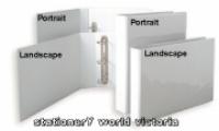 Bantex Insert Binder A3 Landscape 4D 25mm (200p) White