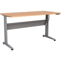 CONSET 501-15 ELECTRIC DESK Silver Frame Beech Top 1800x800mm