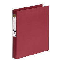Marbig Ring Binder A4 25mm 2R 25mm PE Linen Deep Red