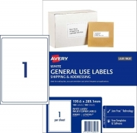 Avery 938203 General Use Labels L7167GU BX100 1/sheet