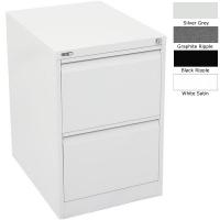 Go Steel Filing Cabinet 2 Drawer Graphite Ripple
