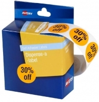 Avery Dispenser Label Circle 24mm PK500 Printed 30% off