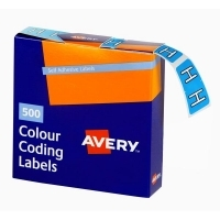 Avery Coding Label Alpha BX500 43208 (H) 25x38mm Blue