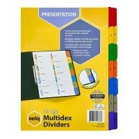 Divider A4 Manilla White / Color Tab 1-14 Multidex Marbig 39805