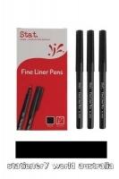Stat Fineliner Pen Fine 0.4mm BX12 Black