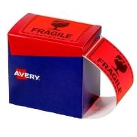 Avery Dispenser Label Printed FRAGILE 75x99.6mm PK750