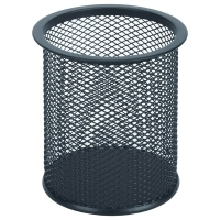 Esselte Pencil Cup Black Metal Mesh 47547
