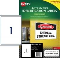 Avery Laser Label  L7067 Heavy Duty PK25 1/sh 199.6x289.1mm
