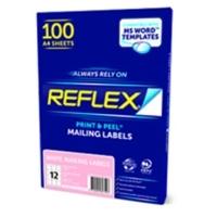 Reflex Labels A4 BX100 (Ctn-5bxs) (12/sheet) 63.5 x 72mm