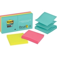 POST-IT POP UP NOTES R330-6SSMIA Miami 76x76mm Pack of 6 Pads