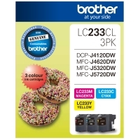 Brother Ink Cartridge LC233 CMY Colour Pack