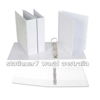 Ecowise Insert Binder A4 3D 40mm (300page) White BX16 NO LABEL
