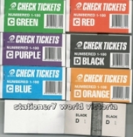 Check Tickets - Raffle Books Olympic 8711