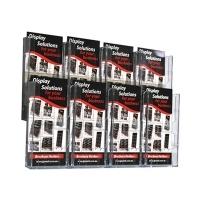 Deflecto Brochure Holder Lit-Loc Wall Display DL x8