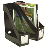 Marbig Magazine File Holder 86320 Enviro Plastic Black