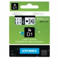 Dymo Labelling Tape D1 9mm x 7M 40913 Black on White