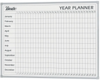 Penrite Whiteboard Porcelain Year Planner QTYEAR1209 1200x900mm