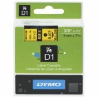 Dymo Labelling Tape D1 9mm x 7M 40918 Black on Yellow