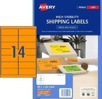 Avery Laser Label L7163FO PK25 14/Sht Flouro Orange