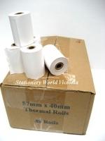 Acorn Cash Register Eftpos Thermal Receipt Roll 57x40mm BX48
