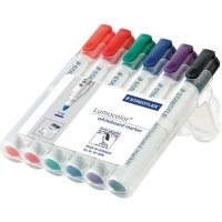 Staedtler Whiteboard Marker Bullet Point 351WP6 Wallet 6 asstd