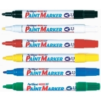 Artline 400XF Paint Marker Permanent Bullet 2.3mm BX12 Asstd