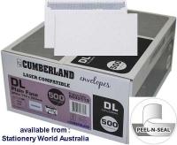 Cumberland Laser Envelope DL 110x220 StripSeal 90g Sec BX500