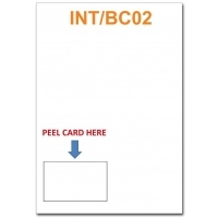 Integrated Business Cards INT/BC02 PK100 -Left Hand Side