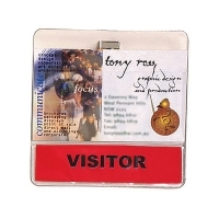 Rexel Exhibitors Card Holder With Pin & Clip Pk10 9801412
