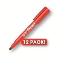 Pentel NN60 Marker Permanent Chisel Red BX12