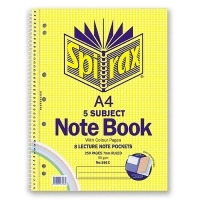 Spirax Notebook 596 A4 5subject 250page SideOpen PK5