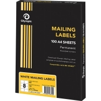 Olympic Labels A4 BX100 8/sheet 99.1x67.7mm