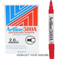 Artline Whiteboard Marker 500A Bullet Red BX12