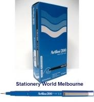 Artline Fineliner Marking Pens No 200 (0.4mm) BX12 Blue
