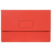 Marbig Slimpick Bright Document Wallet Manilla Fcap PK10 RED