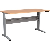 CONSET 501-15 ELECTRIC DESK Silver Frame Beech Top 1200x800mm