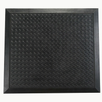 Floortex Anti-Fatigue Ripple Entrance Mat Black 710x780